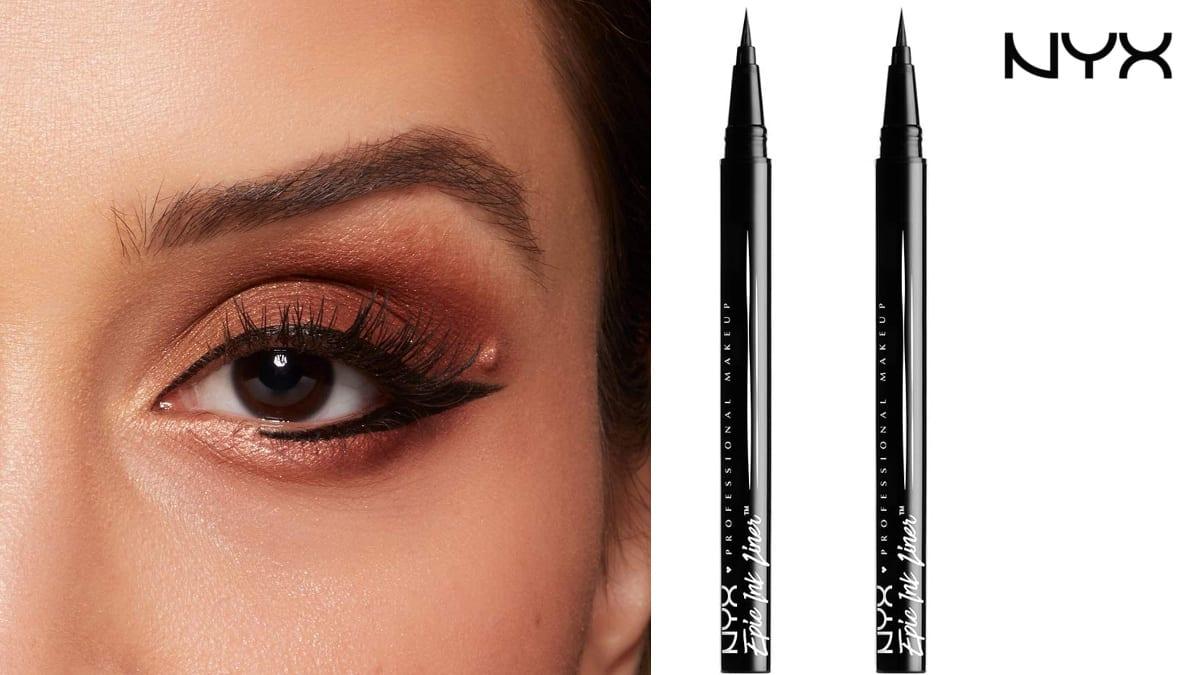 Pack de 2 delineadores de ojos NYX Epic Ink Liner baratos, maquillaje barato, ofertas belleza, chollo