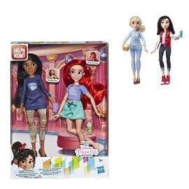 Pack de 2 muñecas Princesas Disney - Cenicienta y Mulán o Ariel y Pocahontas casual baratas, juguetes baratos, ofertas para niños
