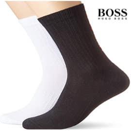 Pack de 2 pares de calcetines Hugo Boss baratos, calcetines hombre baratos, ofertas en ropa interior