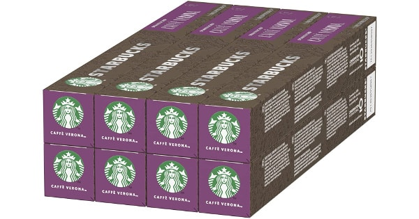 Pack de 80 cápsulas compatibles con Nespresso Starbucks VERONA baratas, café baratos, ofertas supermercado, chollo