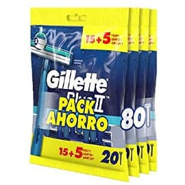 Pack de 80 maquinillas desechables Gillette Blue II, cuchillas de afeitar baratas, ofertas supermercado