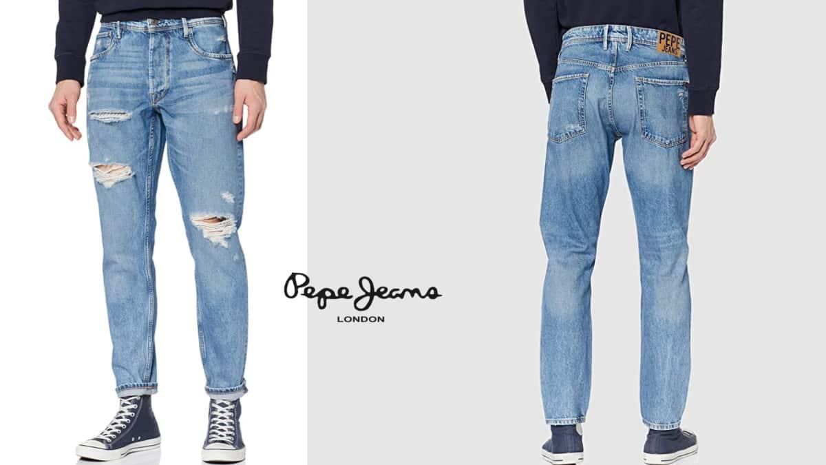 Pantalones vaqueros Pepe Jeans Callen Crop Relaxed baratos, vaqueros baratos, ofertas en ropa de marca, chollo