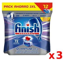 Pastillas para lavavajillas Finish Powerball Quantum Max baratas, lavavajillas de marca barato, ofertas supermercado