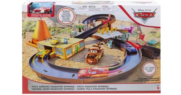 Pista de coches Disney Cars Radiator Springs barata, juguetes baratos, chollo