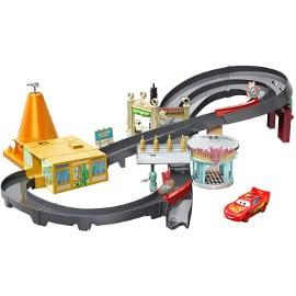 Pista de coches Disney Cars Radiator Springs barata, juguetes baratos