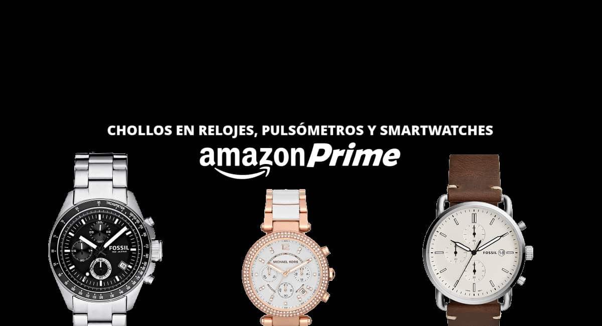 Prime Day relojes y smartwatches baratos, relojes baratos, ofertas en pulsometros chollo