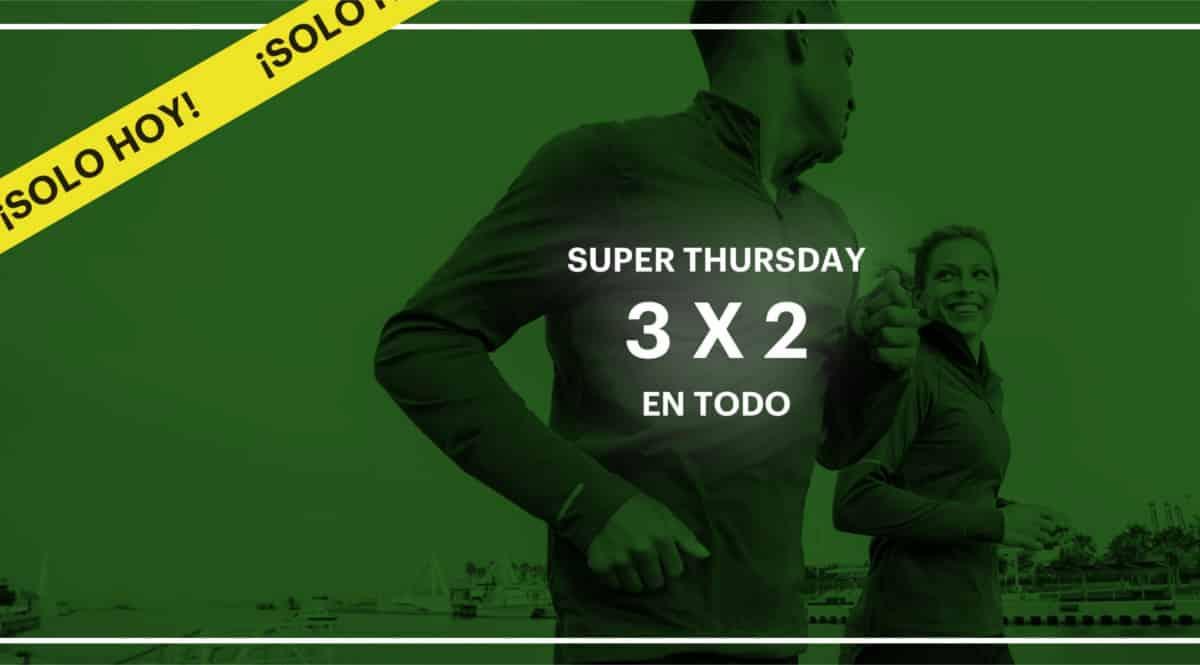 Promoción 3x2 en todo el Outlet de Asics. Ofertas en ropa de marca, ofertas en zapatillas, zapatillas baratas, ropa de marca barata, chollo