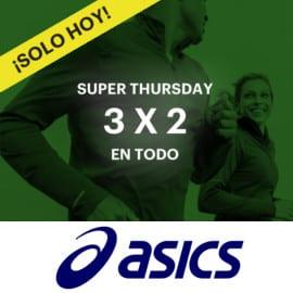 Promoción 3x2 en todo el Outlet de Asics. Ofertas en ropa de marca, ofertas en zapatillas, zapatillas baratas, ropa de marca barata