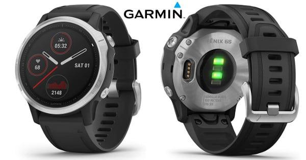 Reloj GPS multideporte Garmin Fenix 6S barato, relojes deportivos baratos, pulsómetros baratos, chollo