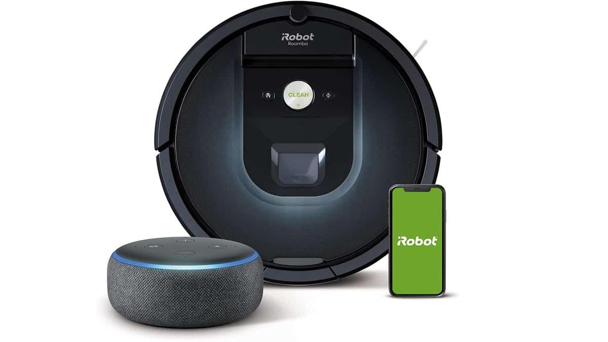 . Robot aspirador iRobot Roomba 981 + Altavoz inteligente Echo Dot barato, robots aspiradores baratos, ofertas casa, chollo