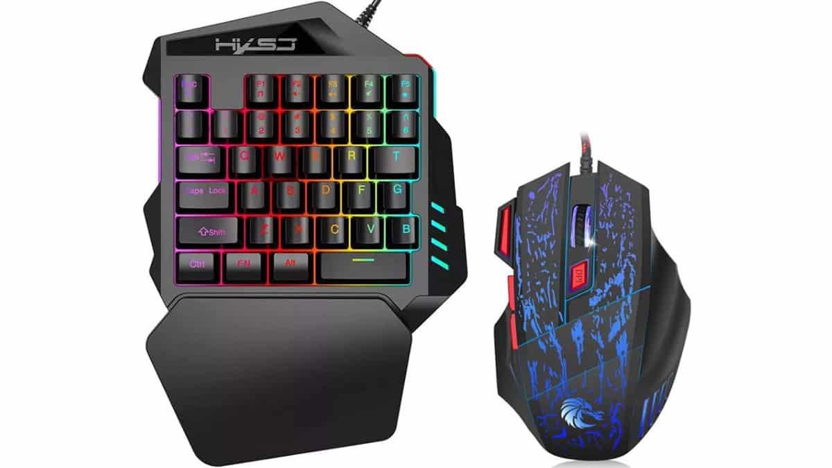 Teclado y ratón gaming HXSJ J50 baratos, teclados baratos, ratones baratos, chollo