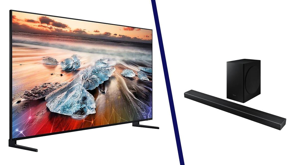 Televisor Samsung QLED QE55Q950RBTXXC + barra de sonido HW-Q60T barato. Ofertas en televisores, televisores baratos, chollo