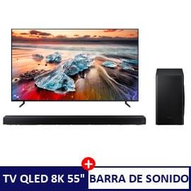 Televisor Samsung QLED QE55Q950RBTXXC + barra de sonido HW-Q60T barato. Ofertas en televisores, televisores baratos