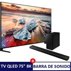Televisor Samsung QLED QE75Q950RBTXXC + barra de sonido HW-Q800T barato. Ofertas en televisores, televisores baratos