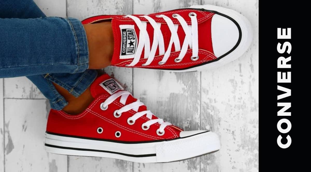 Zapatillas Converse Chuck Taylor All Star rojas baratas, calzado barato, ofertas en zapatillas de marca chollo