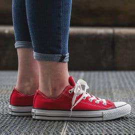 Zapatillas Converse Chuck Taylor All Star rojas baratas, calzado barato, ofertas en zapatillas de marca