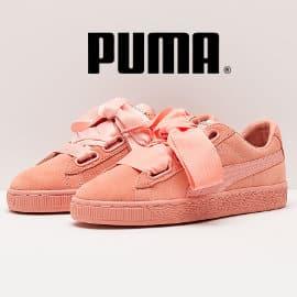Zapatillas Puma Suede Heart para mujer baratas, calzado baratom ofertas en zapatillas