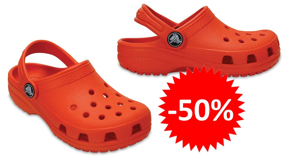 Zuecos para niños Crocs Classic Clog baratos. Ofertas en calzado de marca, calzado de marca barato, chollo
