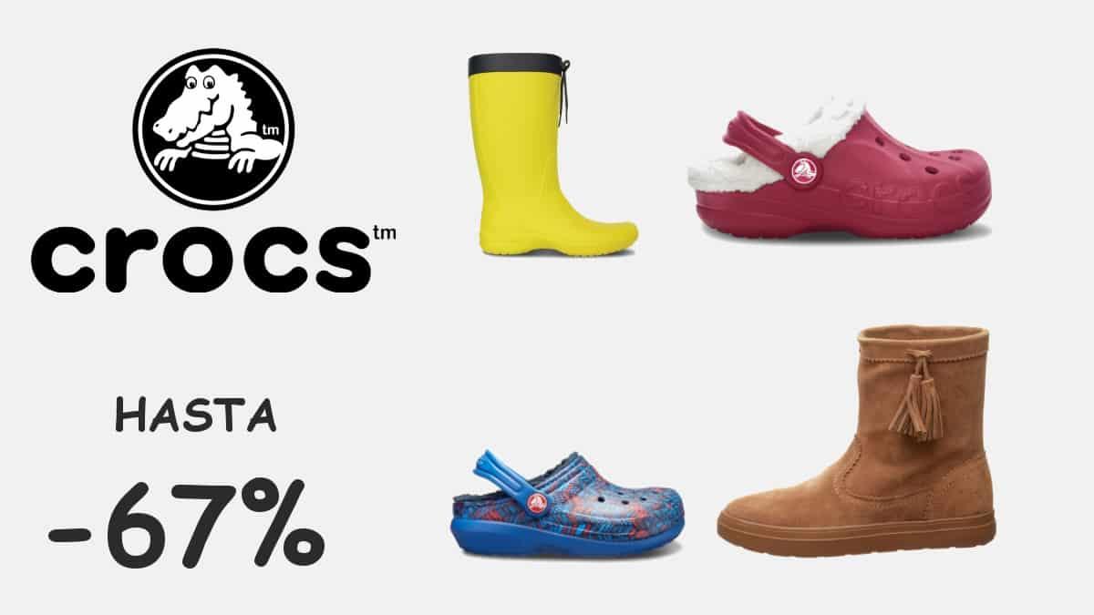 Zuecos y botas Crocs baratos para niño y adulto, calzado barato, ofertas en calzado, chollo