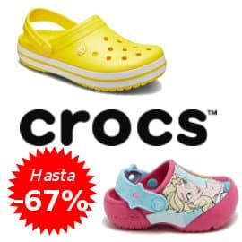 Zuecos y sandalias Crocs baratos, calzado de marca barato, ofertas en calzado para niño y adulto