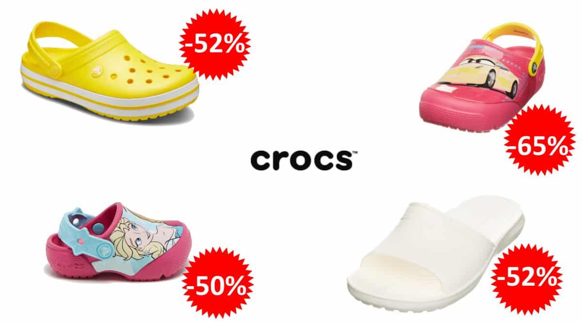 Zuecos y sandalias Crocs baratos, calzado de marca barato, ofertas en calzado para niño y adulto, chollo