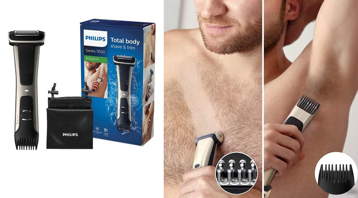 Afeitadora corporal Philips Serie 7000 BG7025-15 barata, afeitadoras corporales de marca baratas, ofertas en belleza, chollo