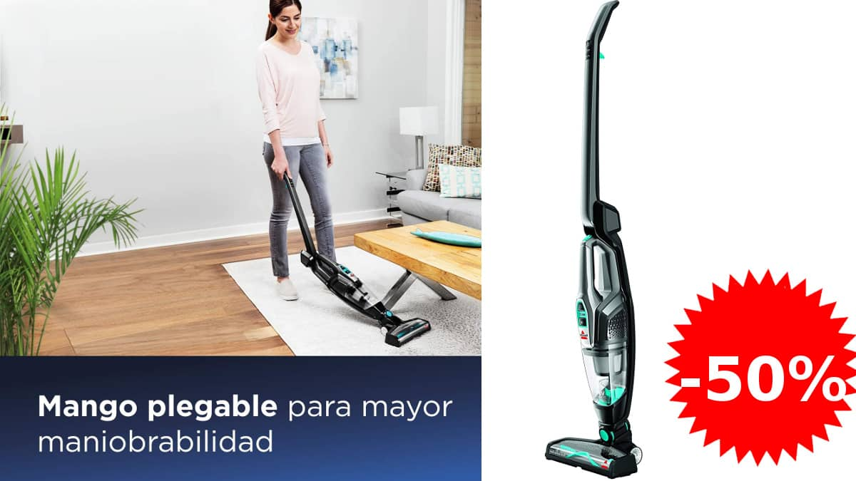 Aspirador escoba 2 en1 sin cable Bissell Multireach Essential barato, aspiradores baratos, ofertas limpieza hogar, chollo