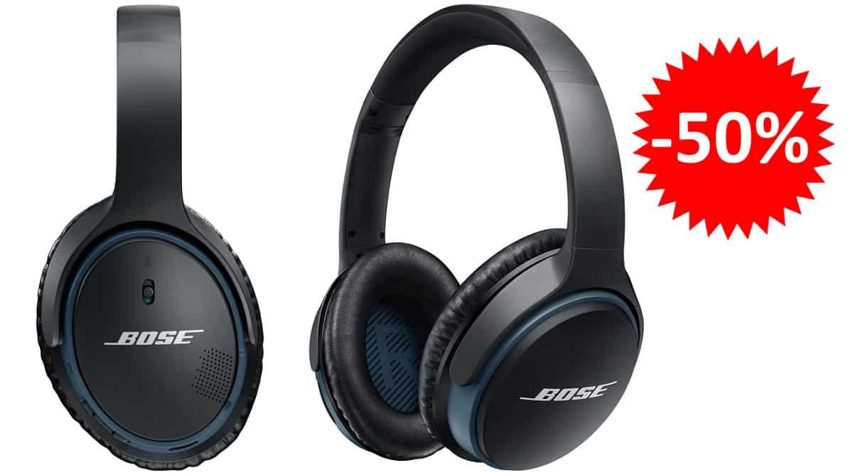 ¡Precio mínimo histórico! Auriculares inalámbricos Bose SoundLink II sólo 114 euros. 50% de descuento.