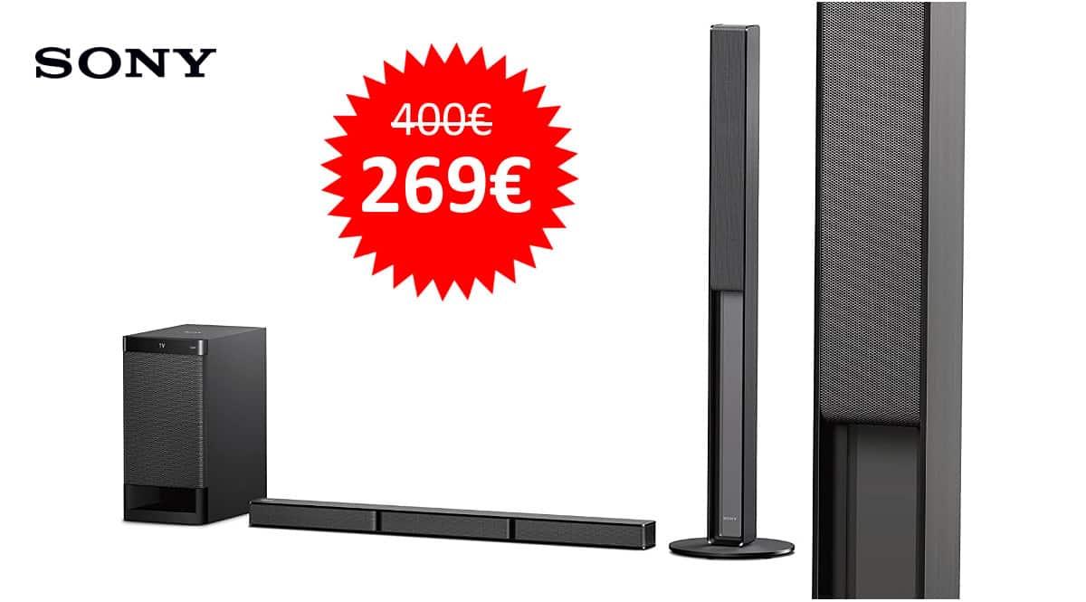 ¡¡Chollo!! Barra de sonido 5.1 Sony HTRT4 sólo 269 euros. Ahórrate 131 euros.