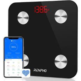 Báscula Renpho con App y análisis corporal barata, básculas de baño baratas, ofertas hogar
