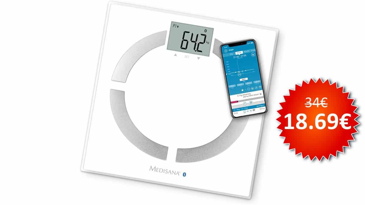 ¡¡Chollo!! Báscula analítica digital Medisana BS 444 Connect sólo 18.69 euros.