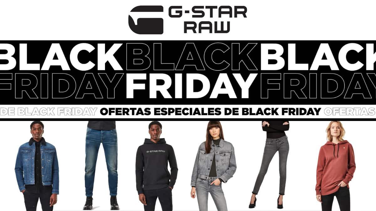 Black Friday G-Star Raw, ropa de marca barata, ofertas en ropa de marca chollo