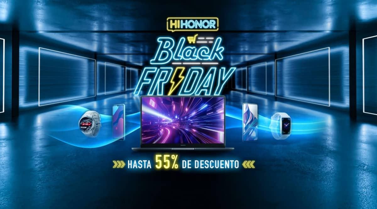 Black Friday Honor. Ofertas en móviles, ofertas en portátiles, ofertas en smartwatches, chollo
