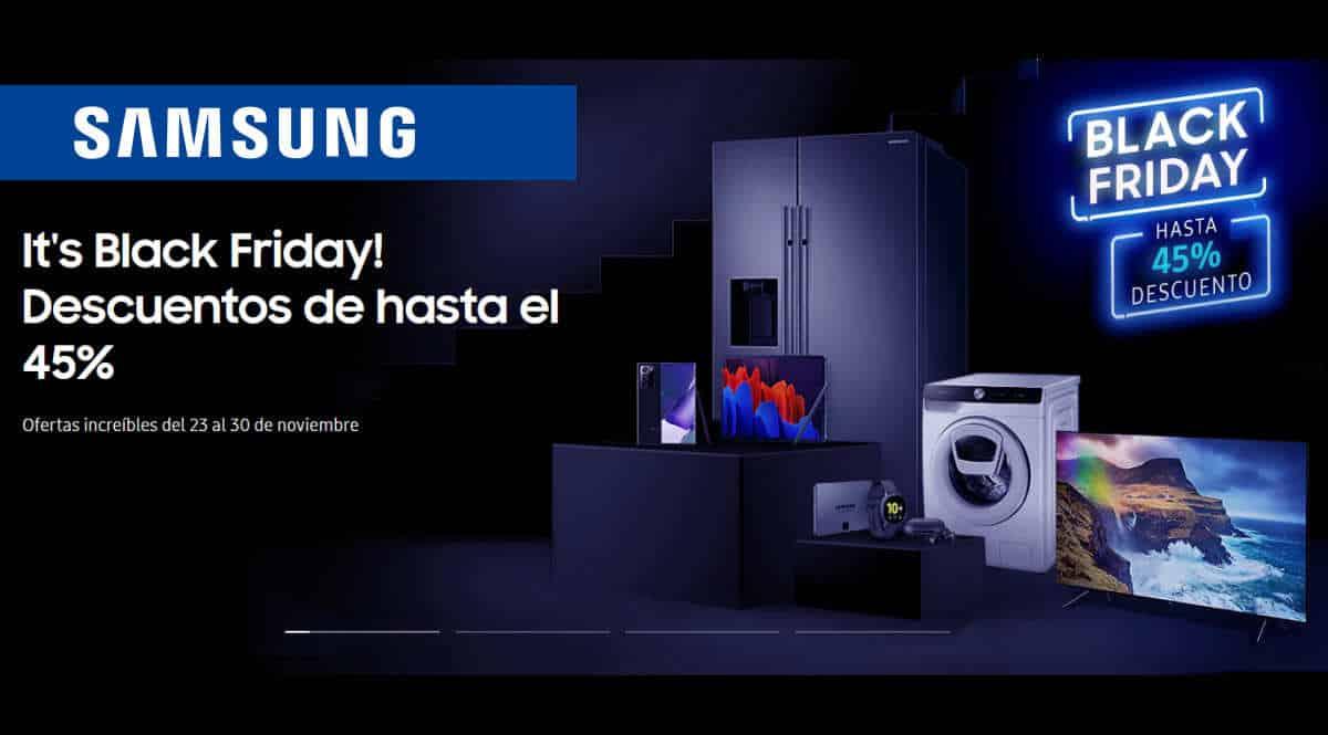 Black Friday Samsung 2020, ofertas en electrodomésticos, móviles baratos, chollo