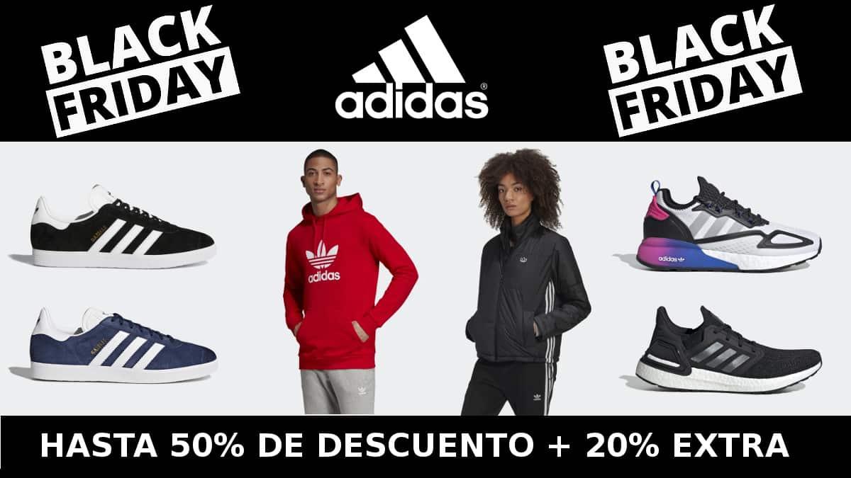 Black Friday en Adidas, ropa de marca barata, ofertas en calzado chollo