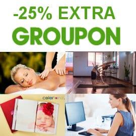 Black Friday en Groupon, descuento de un 25% Extra en la sección cerca de ti, planes y viajes baratos, ofertas cursos online y experiencias2