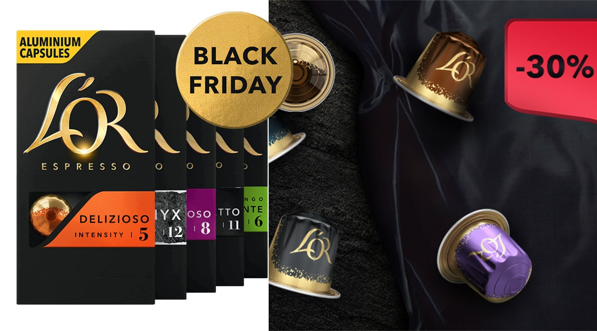 Black Friday en L'Or. Ofertas en café, café barato, chollo