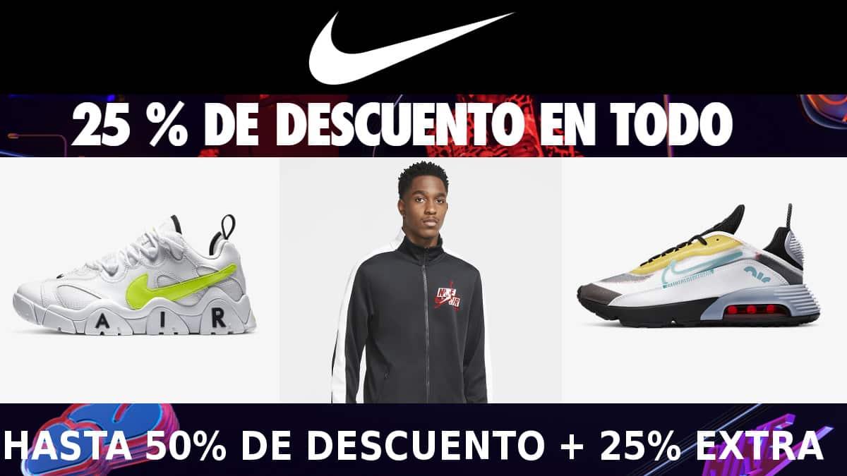 Black Friday en Nike, calzado de marca barato, ofertas en zapatillas deportivas chollo
