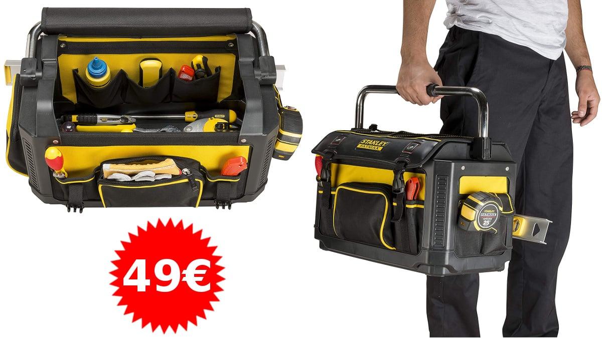 Bolsa rígida para herramientas Stanley FatMax barata, bolsas porta herramientas baratas, ofertas bricolaje, chollo