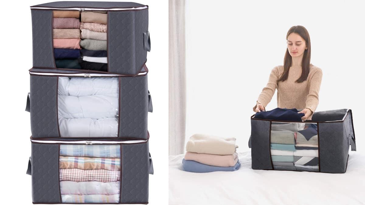 Bolsas de almacenamiento Lifewit baratas, bolsas para ropa baratas, ofertas ordenación, chollo