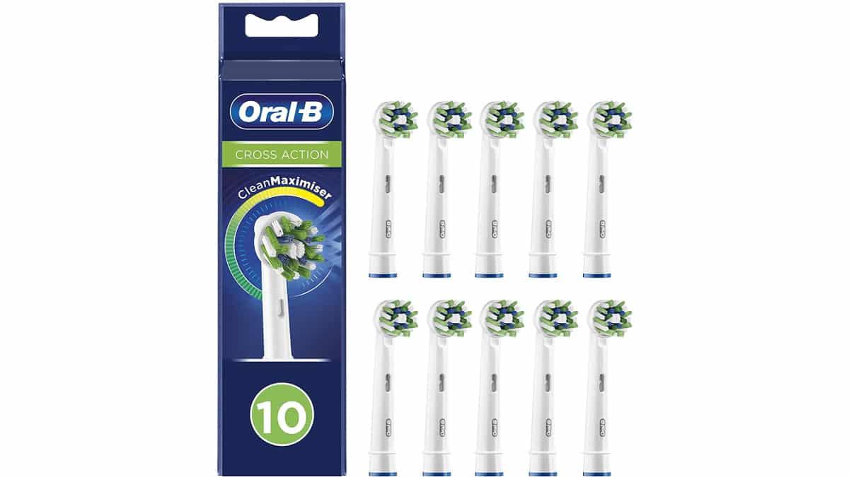 Cabezales Oral-B CrossAction baratos, cabezales para cepillo eléctrico, ofertas salud y cuidado personal, chollo