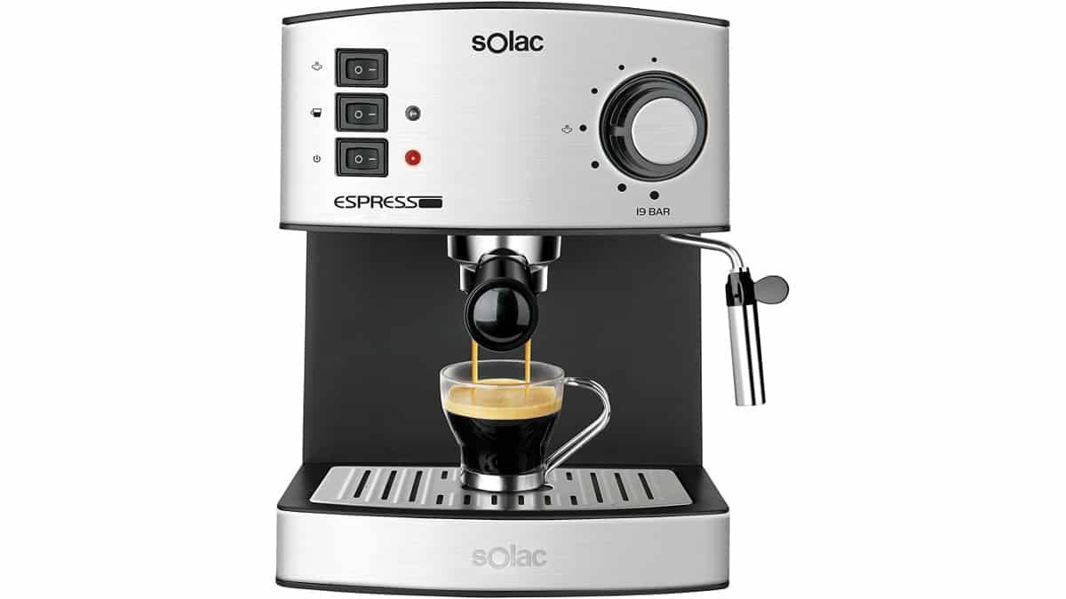 Cafetera Espresso con vaporizador Solac CE4480 barata, cafeteras baratas, ofertas cocina, chollo
