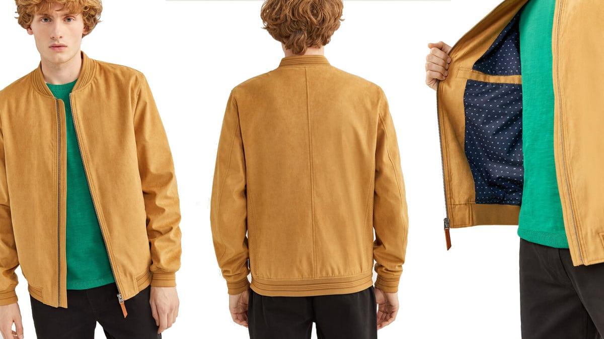 Cazadora Springfield con efecto ante barata, ropa de marca barata, ofertas en cazadoras chollo