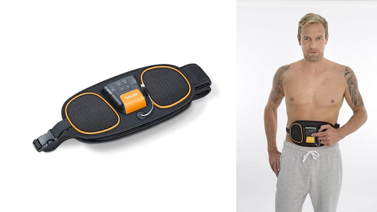 Cinturón electroestimulador lumbar y abdominal Beurer EM 39 EMS barato, ofertas en salud y cuidado personal, chollo7