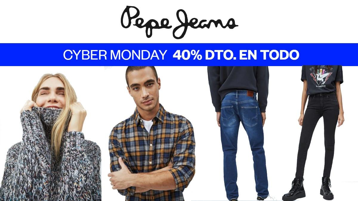 Cyber Monday Pepe Jeans, ropa de marca barata, ofertas en calzado de marca chollo