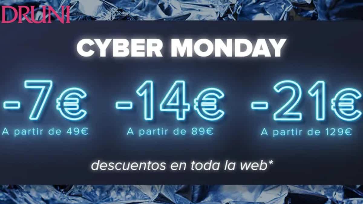 Cyber Monday en Druni, cosméticos, maquillajes y perfumes baratos, ofertas droguería, chollo