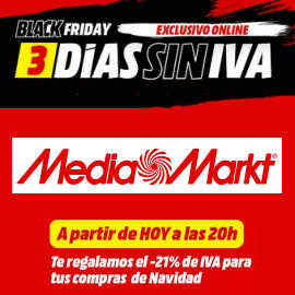 Día sin IVA en MediaMarkt, ofertas en MediaMarkt