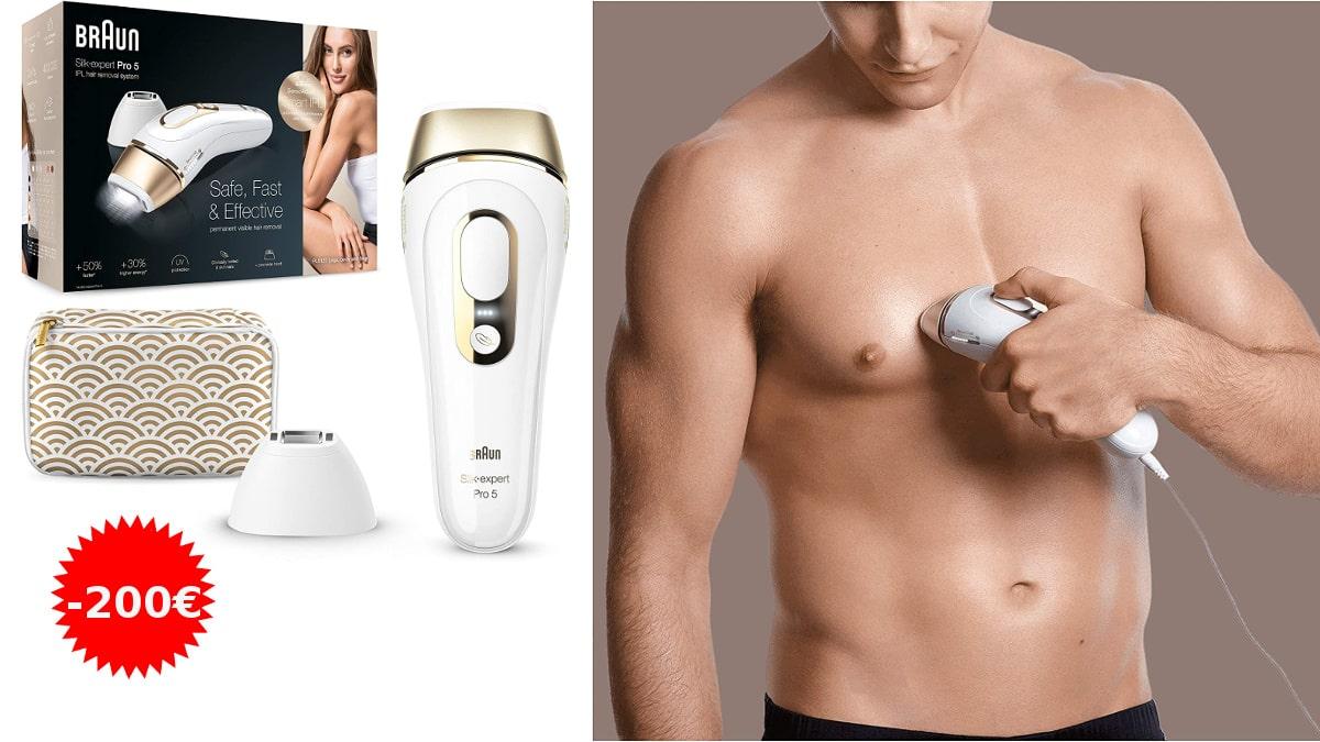 Depiladora Braun Silk Expert Pro 5 PL5137 barata, depiladoras definitivas baratas, ofertas belleza, chollo