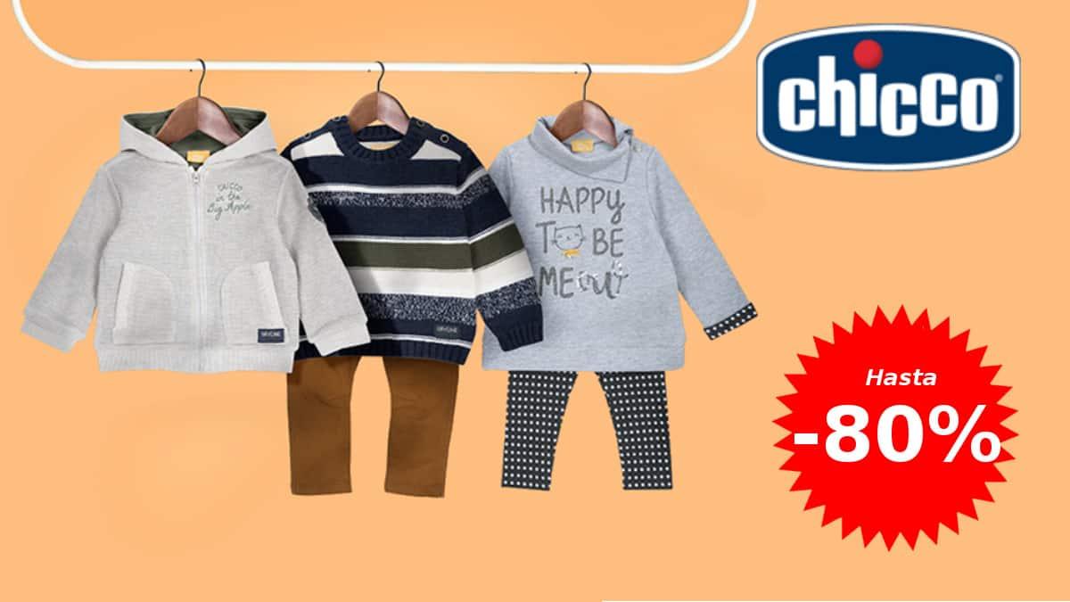 Descuentos de hasta un 80% en ropa y calzado Chicco para niña y niño, ropa de marca barata, ofertas en ropa para niños, chollo