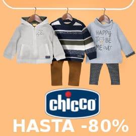 Descuentos de hasta un 80% en ropa y calzado Chicco para niña y niño, ropa de marca barata, ofertas en ropa para niños